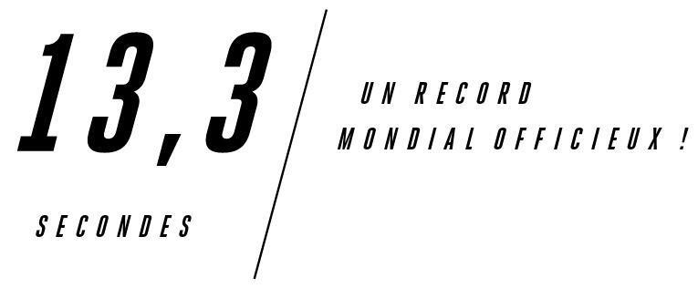 13,3 Sekunden