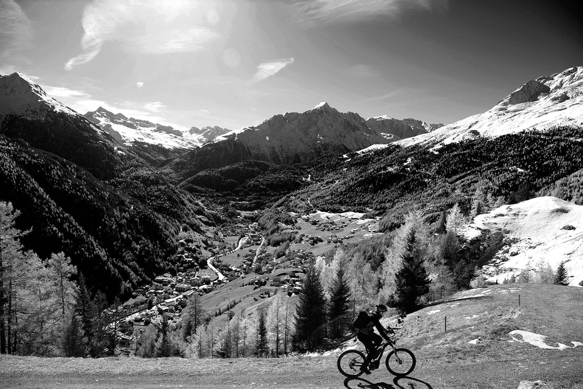 Se rendre à la coupe du monde de ski – en vtt de montagne électrique